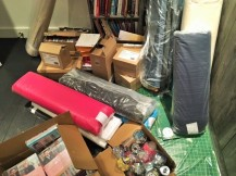 My overloaded sewing room!